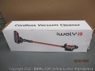 iwoly i9 Cordless Vacuum Cleaner powers on