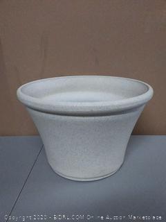happy planter 16.3 inch X 16.3 inch X 10.6 in Sparkling White planter