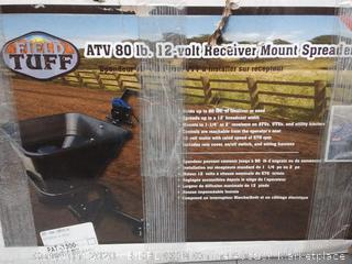 field Tuff ATV 80 lb 12 volt receiver Mount spreader