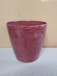 """Happy Planter 608410075764 Planter, 11"""" x 11"""" x 10.2"""", Raspberry Glaze"""