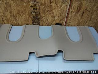 3D MAXpider L1TL00221502 Second Row Custom Fit All-Weather Kagu Series Floor Mat in Tan for Select Tesla X Non-Folding 7-Seats Models