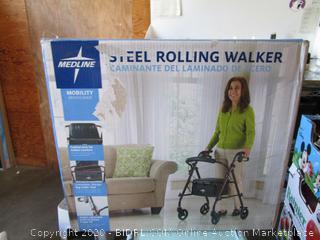 Medline Steel Rolling Walker