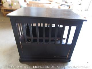 Wood Dog Crate Night Stand
