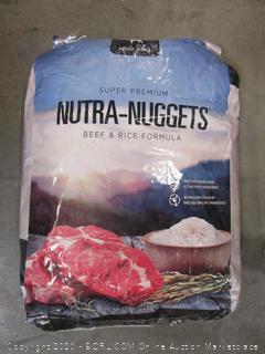Nutra-Nuggets Super Premium Dog Food 50# Bag Beef/Rice Kibble