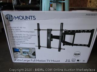 MW Mounts XL Full Motion TV Mount
