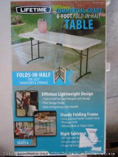 Lifetime Commercial 6' Folding Table