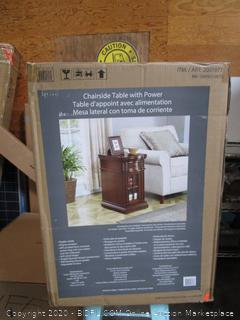 Chairside Table with Power