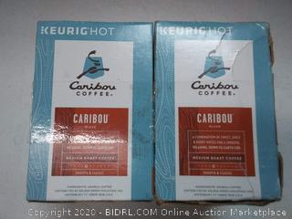 Keurig hot Caribou Coffee medium roast coffee (2 boxes)