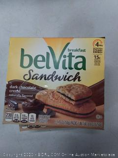 belvita breakfast sandwiches dark chocolate cream (2-pack)