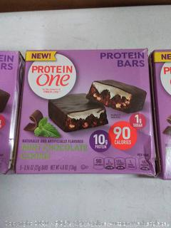 protein one mint chocolate cookie protein bars (3 boxes)