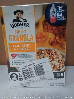 Quaker simply granola Oats honey and almonds cereal to pack