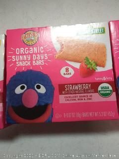 Earth's Best Sesame Street Organic Sunny Days Snack Bars strawberry (3 packs)