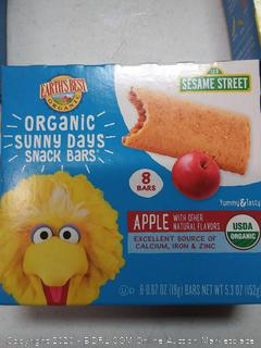 Earth's Best Organic Sesame Street Sunny Day Toddler Snack Bars with Cereal Crust, Apple, 8 Count Box (Pack of 3)