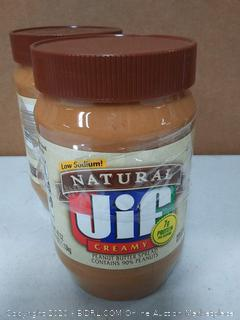low sodium natural Jif creamy peanut butter( two pack)