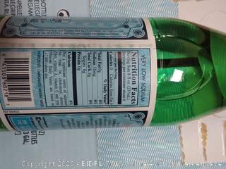 S.Pellegrino Sparkling Natural Mineral Water, 1liter (box of 12)