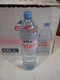 Evian water 1.5 12 pack