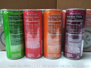 IZZE Sparkling Juice, 4 Flavor Variety Pack, 8.4 oz Cans, 24 Count