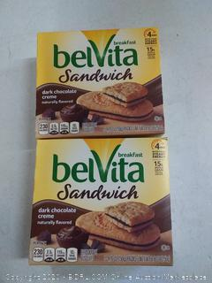 belvita breakfast sandwich dark chocolate cream (2 packs)
