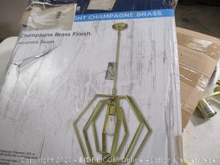 Westinghouse- 1 Light Champagne Brass Pendant