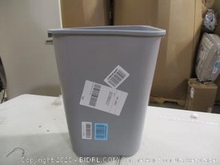 Rubbermaid- Deskside Plastic Wastebasket- Gray