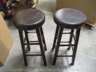 2 Winsome Solid Wood Barstools