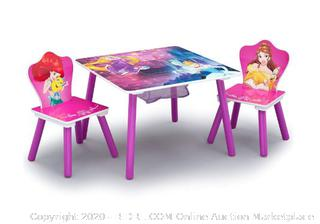 Delta Children Ariel & Belle Character Chair Set With Table