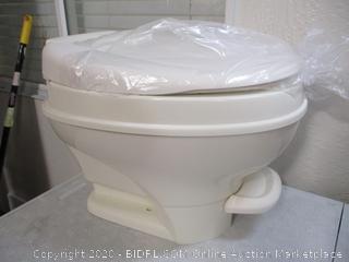 Thetford Parchment Aqua Magic V RV Toilet Hand Flush-High Profile