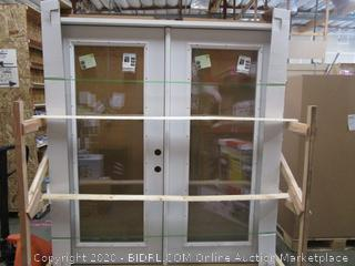 JELD-WEN Patio Double Door Evolve Glass Outswing (retail $942)