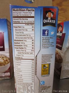 3x Boxes Quaker Raisin, Date & Walnut Instant Oatmeal
