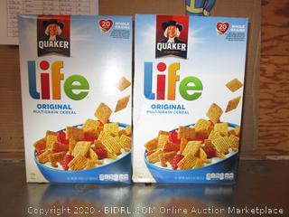2x Boxes Quaker Life Original Multigrain Cereal