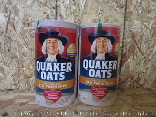 Quaker Old Fashioned Oats, 2 Cans