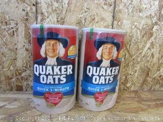 Quaker Oats Quick 1-Minute, 2 Cans