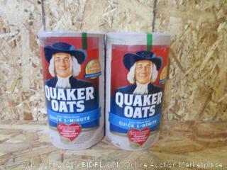 Quaker Whole Grain Oats, 2 Cans