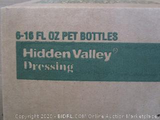 6x Bottles Hidden Valley Ranch Three Herb Dressing