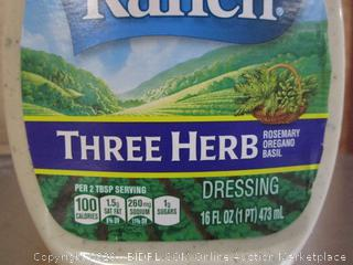 6x Bottles Hidden Valley Ranch Three Herb Dressing