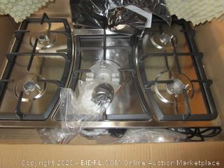 "30"" Gas Cooktop Stove Top Deluxe Hob 5-Burner Stainless Steel"