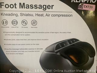 RENPHO Shiatsu Foot Massager Machine with Heat, Deep Kneading Therapy, Compression, Relieve Foot Pain from Plantar Fasciitis, Improve Blood Circulation, Fits feet up to Men Size 12 Panel Control(Retail $125)