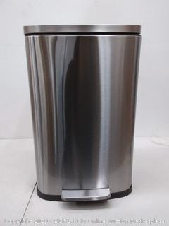 iTouchless SoftStep 13.2 Gallon Stainless Steel Step Trash Can with Odor Control System, 50 Liter Pedal Garbage Bin for Kitchen, Office, Home
