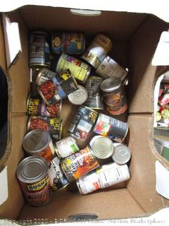 Miscl Box Lot Canned Food, Beans