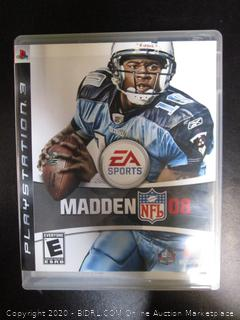 PS3 Game Madden NFL 08