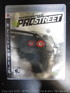 PS3 Game Need For Speed Pro Street