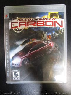 PS3 Game Need for Speed Carbon