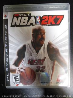 PS3 Game NBA 2K7