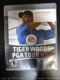 PS3 Game Tiger Woods PGA Tour 07