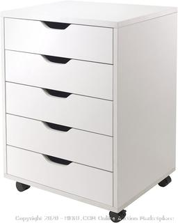 Halifax Cabinet for Closet / Office, 5 Drawers, White