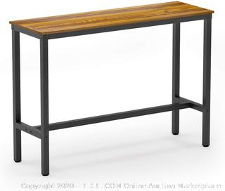 Teraves Bar Table with Solid Metal Frame,Counter Height Table