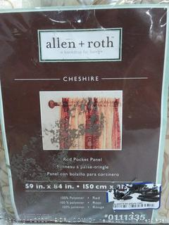 Allen + Roth Cheshire 59 in x 84 in Rod pocket panel