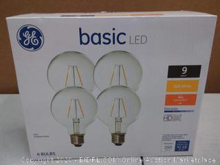 GE basic LED light bulbs 4 bulbs