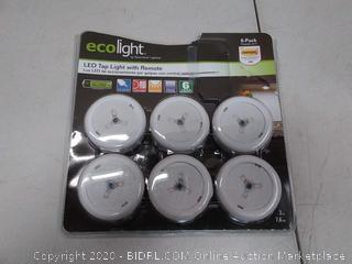 ecolight LED tap light with remote (batteries included)