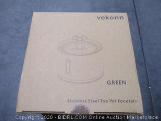 Yekonn Stainless Steel Top Pet Fountain